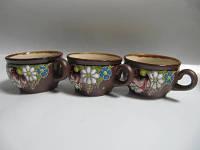Чашка глиняная кофейная Поляна (С росписью Поляна)