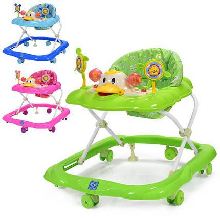 Детские ходунки 3685 муз,свет, колеса 6 шт, стопор 2 шт, 3 положения, фото 2