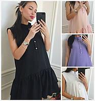 Летнее свободное платье с воланами 16304, фото 1