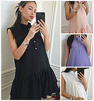 Літній вільний сукні з воланами 16304, фото 1