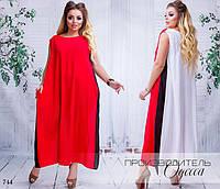 Платье длинное летнее без рукав свободного фасона штапель 42-44,46-48, фото 1