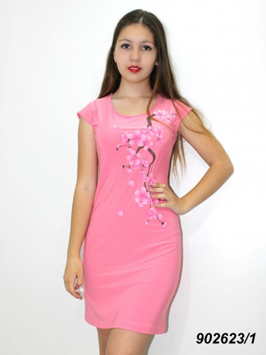 Легкое летнее платье,c аппликацией  42 44 46 48