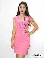 Легкое летнее платье,c аппликацией  42 44 46 48, фото 1