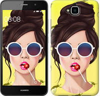 """Чехол на Huawei Y6 Pro Девушка с чупа-чупсом """"3979c-355-328"""""""