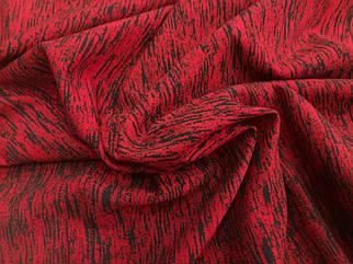 Футер двунитка принт крупный меланж красный (ширина 150см)