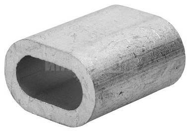 Зажим для троса алюминиевый 1 мм обжимной Din 3093
