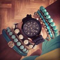 Часы наручные Geneva черный