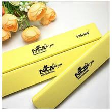 Бафик для ногтей Nice, желтый 120/180