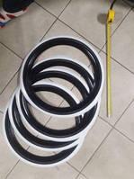 Флиппера на колеса, вайтволлы, вайтбенды, колорбенды, R17 черно-белые Турция, фото 1