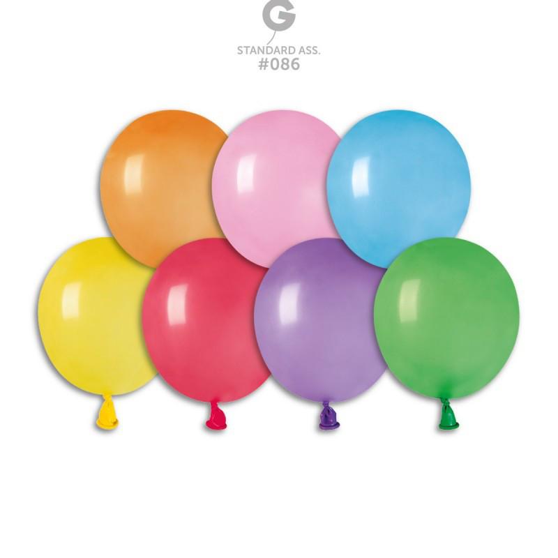 """Воздушные латексные шары 3""""(8см) PT20 80 ассорти пастель. В упак: 100шт."""