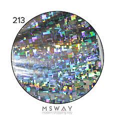 KATTi Фольга переводная NFS 213 holographic серебро (битая геометрия прямоугольники) 25см, фото 2