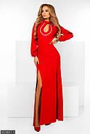 Платье 48-50 50-52  красный
