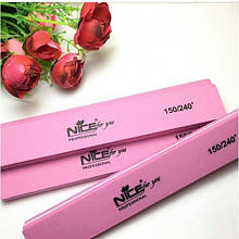 Бафик для ногтей Nice, розовый 150/240