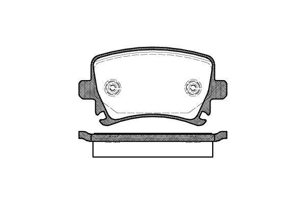 LPR 05P1219 тормозные колодки (задние) Audi A3, Seat ALTEA, Volkswagen CADDY III