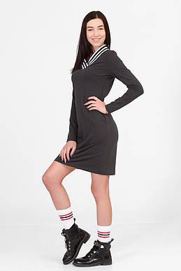 b5158dc9ff2 Графитовое платье MAUREEN с V-горловиной в спортивном стиле - купить ...