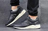 Кроссовки мужские темно синие с бежевым New Balance 999  4391