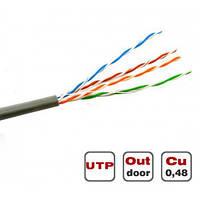 Витая пара Dialan UTP Cat.5E 4PR Cu (350 МГц) PE Outdoor 305 м