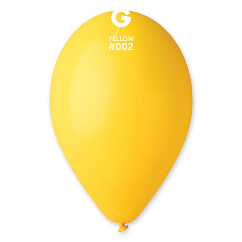 """Воздушные шары 10""""(25 см) 02 желтый пастель В упак: 100шт. ТМ """"Gemar"""" Италия"""
