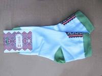 Вышитые носки Зеленый луг (Носки с вышивкой)