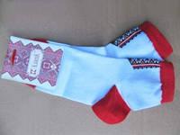 Вышитые носки Маки (Носки с вышивкой)