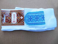 Вышитые носки Речка (Носки с вышивкой)