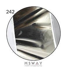 KATTi Фольга переводная NFS 242 metalic серебро (серо оливковая) 25см, фото 2