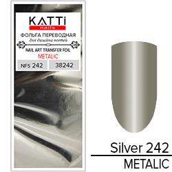 KATTi Фольга переводная NFS 242 metalic серебро (серо оливковая) 25см