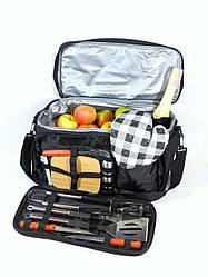 Термосумка-набор для барбекю Скаут 10.5л (42*25*23см) сумка холодильник, набор для пикника