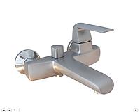 Смеситель в ванную комнату однорычажный сатин 2-012