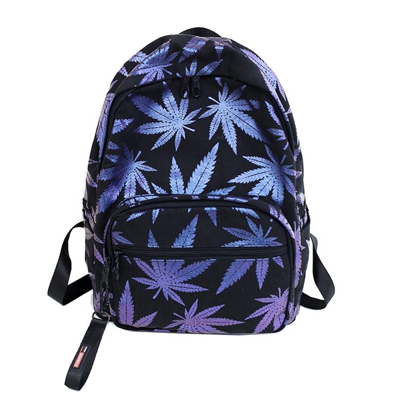 b0bf4734f5e2 Черный рюкзак с принтом конопли - Интернет-магазин
