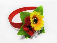 Обруч Три цветка (Украинские венки, обручи, заколки)