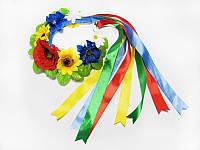 Обруч Цветы с лентами (Украинские венки, обручи, заколки)