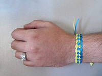Браслет плетеный Украина (узкий) (С украинской символикой)