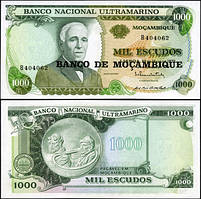 Мозамбик /Mozambique 1000 escudos 1972(76)P119 UNC