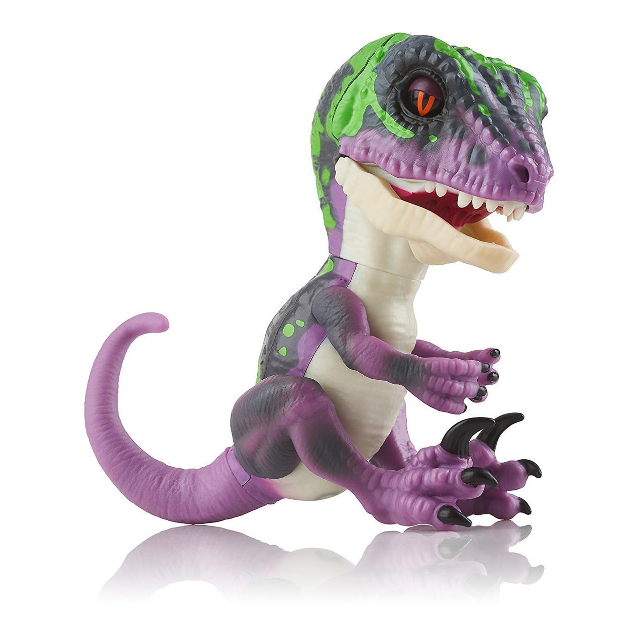 Интерактивная игрушка SUNROZ Dinosaur Razor умный ручной динозавр Fingerlings Фиолетовый (SUN0785)
