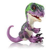 Интерактивная игрушка SUNROZ Dinosaur Razor умный ручной динозавр Fingerlings Фиолетовый (SUN0785), фото 1