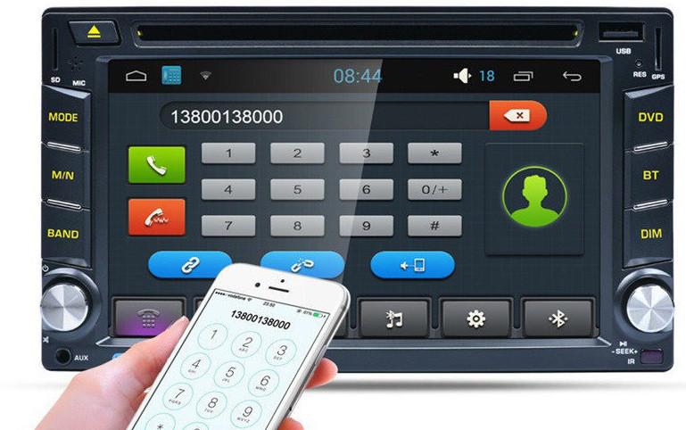 Популярная 2din Автомагнитола DVD привод, Wifi модуль и Bluetooth Pioneer 6002B + камера
