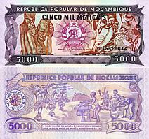 Мозамбик /Mozambique 5000 Meticais 1989 P 133 UNC