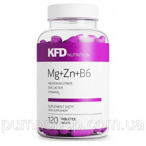 Mагний+B6+цинк KFD Nutrition ZMA (Mg+Zn+B6) - 120 таб.