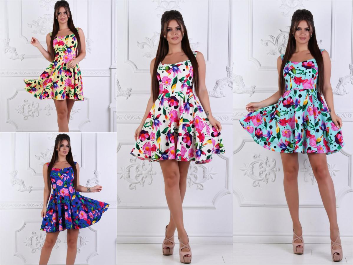 Женское летнее платье-сарафан цветочный принт 30245 - СТИЛЬНАЯ ДЕВУШКА  интернет магазин модной женской одежды 13f400ccc45