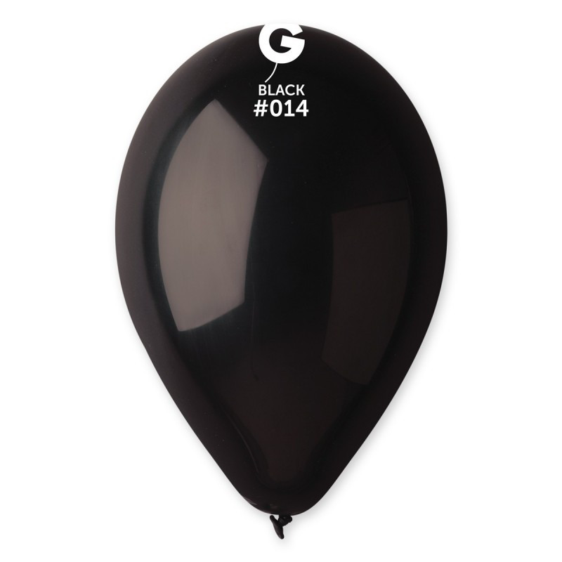 """Воздушные шары 10""""(25 см)  14 Чёрный пастель В упак: 100шт. ТМ """"Gemar"""" Италия"""