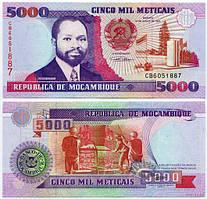 Мозамбик /Mozambique 5000 Meticais 1991 P 136 UNC