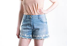 Шорты джинсовые женские с вышивкой