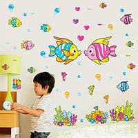 Наклейка на стену в детскую комнату Подводный мир
