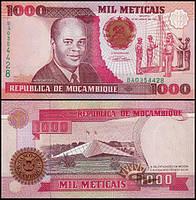 Мозамбик/Mozambique 1000 Meticas 1991 Pick 135 UNC