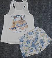 Летний костюм для девочек 4-12 лет