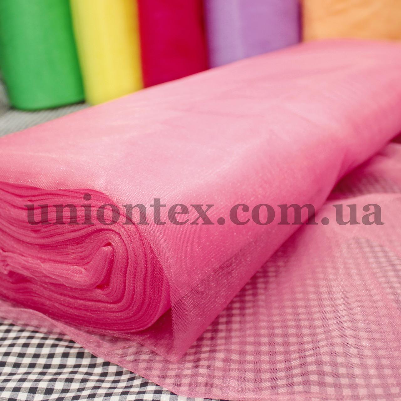 Фатин средней жесткости Kristal tul розовый, ширина 3м