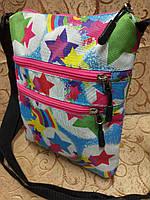 Принт барсетка стильный(только ОПТ) спортивная планшеты сумка для через плечо, фото 1