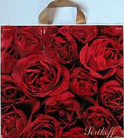 Пакет с петлевой ручкой лилия, роза, орхидея 330х360, фото 1