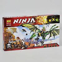 """Конструктор """"Ninja"""" 10526 603 дет, """"Зелёный энерджи дракон Ллойда"""" в коробке"""